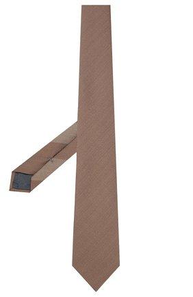 Мужской шелковый галстук ERMENEGILDO ZEGNA коричневого цвета, арт. Z7E00/16Y | Фото 2