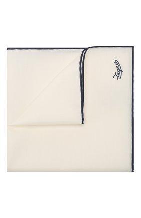 Мужской платок из смеси хлопка и шелка ERMENEGILDO ZEGNA синего цвета, арт. Z7J11/38B | Фото 1