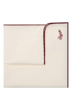 Мужской платок из смеси хлопка и шелка ERMENEGILDO ZEGNA бордового цвета, арт. Z7J11/38B | Фото 1