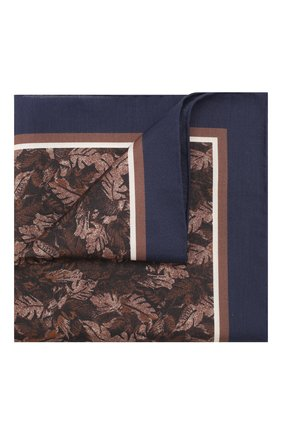 Мужской платок из смеси хлопка и шелка ERMENEGILDO ZEGNA коричневого цвета, арт. Z7J12/38B | Фото 1