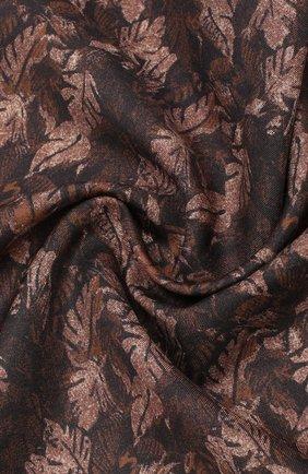 Мужской платок из смеси хлопка и шелка ERMENEGILDO ZEGNA коричневого цвета, арт. Z7J12/38B | Фото 2