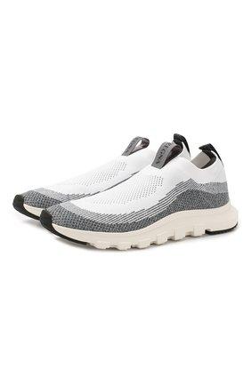 Мужские текстильные кроссовки Z ZEGNA белого цвета, арт. A4413X-LHSTE   Фото 1
