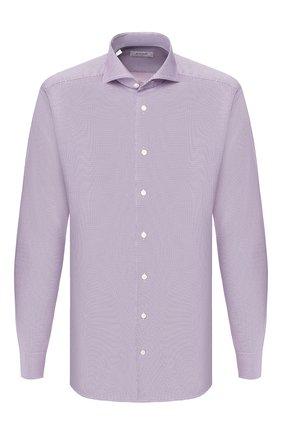 Мужская хлопковая сорочка ETON сиреневого цвета, арт. 1000 00556 | Фото 1