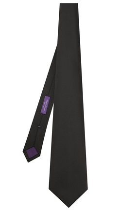 Мужской шелковый галстук RALPH LAUREN черного цвета, арт. 791597933 | Фото 2