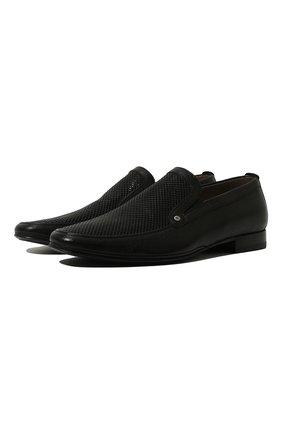 Мужские кожаные лоферы ALDO BRUE черного цвета, арт. AB700CFJ-MA   Фото 1