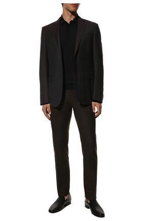 Мужские кожаные лоферы ALDO BRUE черного цвета, арт. AB700CFJ-MA   Фото 2