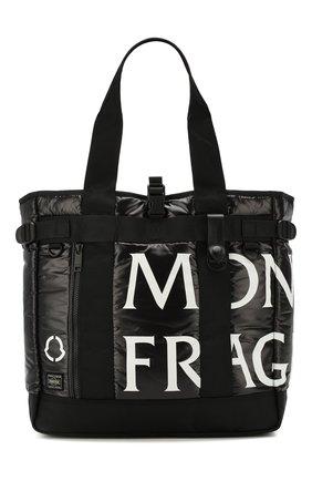 Мужская сумка-шопер 7 moncler fragment hiroshi fujiwara MONCLER GENIUS черного цвета, арт. E2-09U-00619-00-68950 | Фото 1