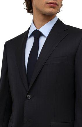 Мужской шерстяной галстук BRUNELLO CUCINELLI темно-синего цвета, арт. M032P0018 | Фото 2