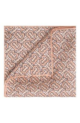 Мужской шелковый платок BURBERRY светло-бежевого цвета, арт. 8014879 | Фото 1