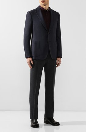 Мужская хлопковая рубашка BOSS бордового цвета, арт. 50421216 | Фото 2