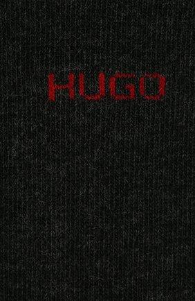 Мужские комплект из двух пар носков HUGO серого цвета, арт. 50401984 | Фото 2 (Материал внешний: Хлопок; Кросс-КТ: бельё)