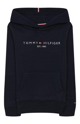 Детский худи TOMMY HILFIGER темно-синего цвета, арт. KB0KB05057 | Фото 1