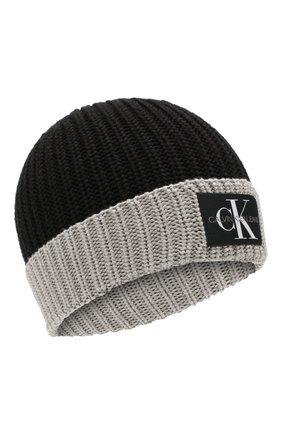 Детского шапка CALVIN KLEIN JEANS KIDS черного цвета, арт. C30C300053 | Фото 1