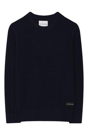 Детский пуловер CALVIN KLEIN JEANS KIDS темно-синего цвета, арт. IB0IB00316 | Фото 1