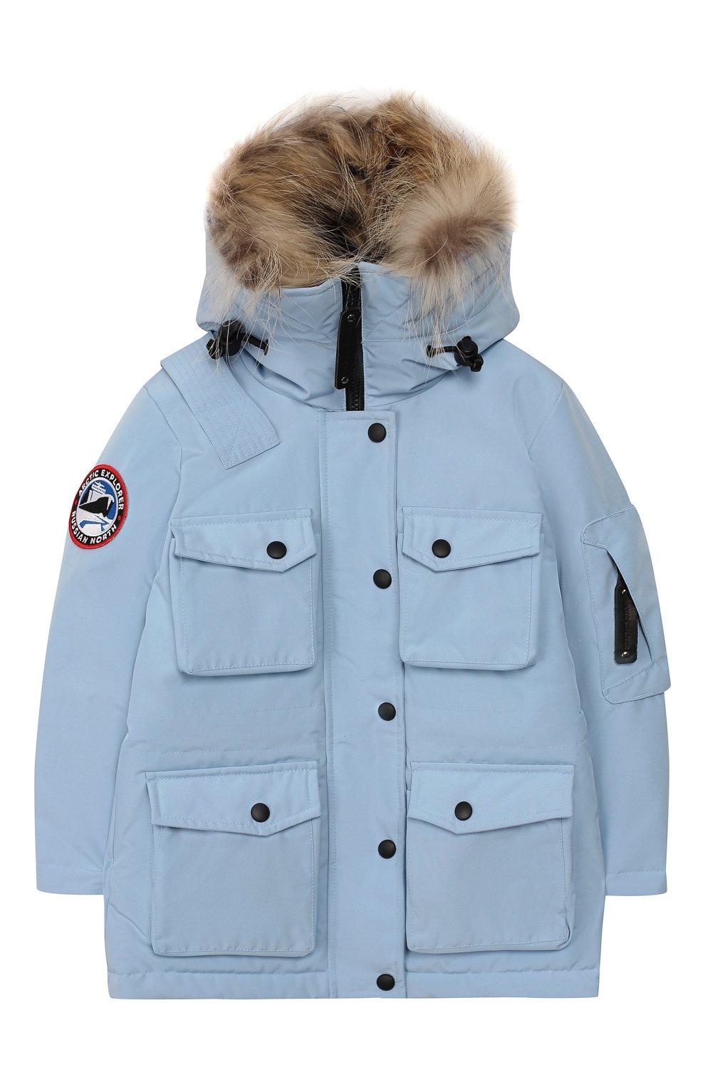Детского пуховая куртка umka ARCTIC EXPLORER голубого цвета, арт. UMKA_SKY | Фото 1