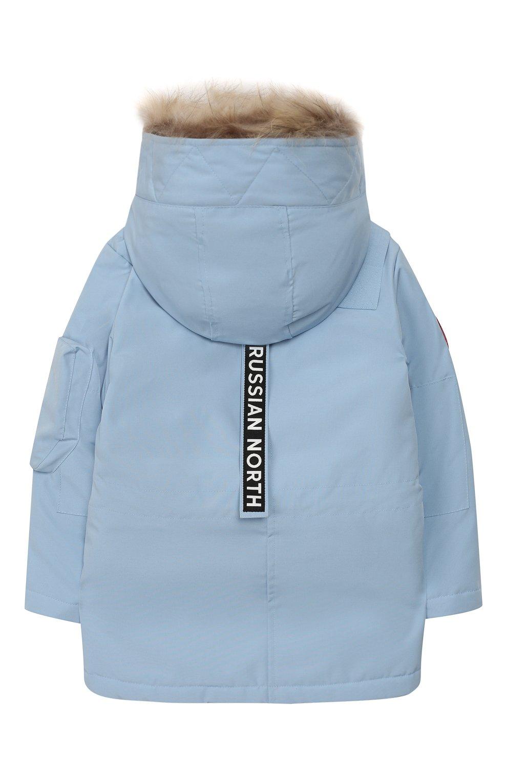 Детского пуховая куртка umka ARCTIC EXPLORER голубого цвета, арт. UMKA_SKY | Фото 2