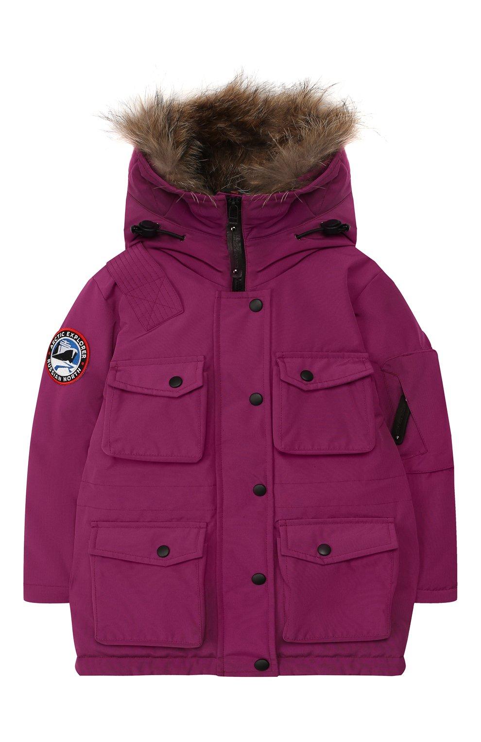 Детского пуховая куртка umka ARCTIC EXPLORER фуксия цвета, арт. UMKA_PNK | Фото 1