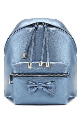Детская рюкзак MONNALISA синего цвета, арт. 175004 | Фото 1