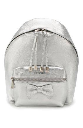Детская рюкзак MONNALISA серебряного цвета, арт. 175004 | Фото 1