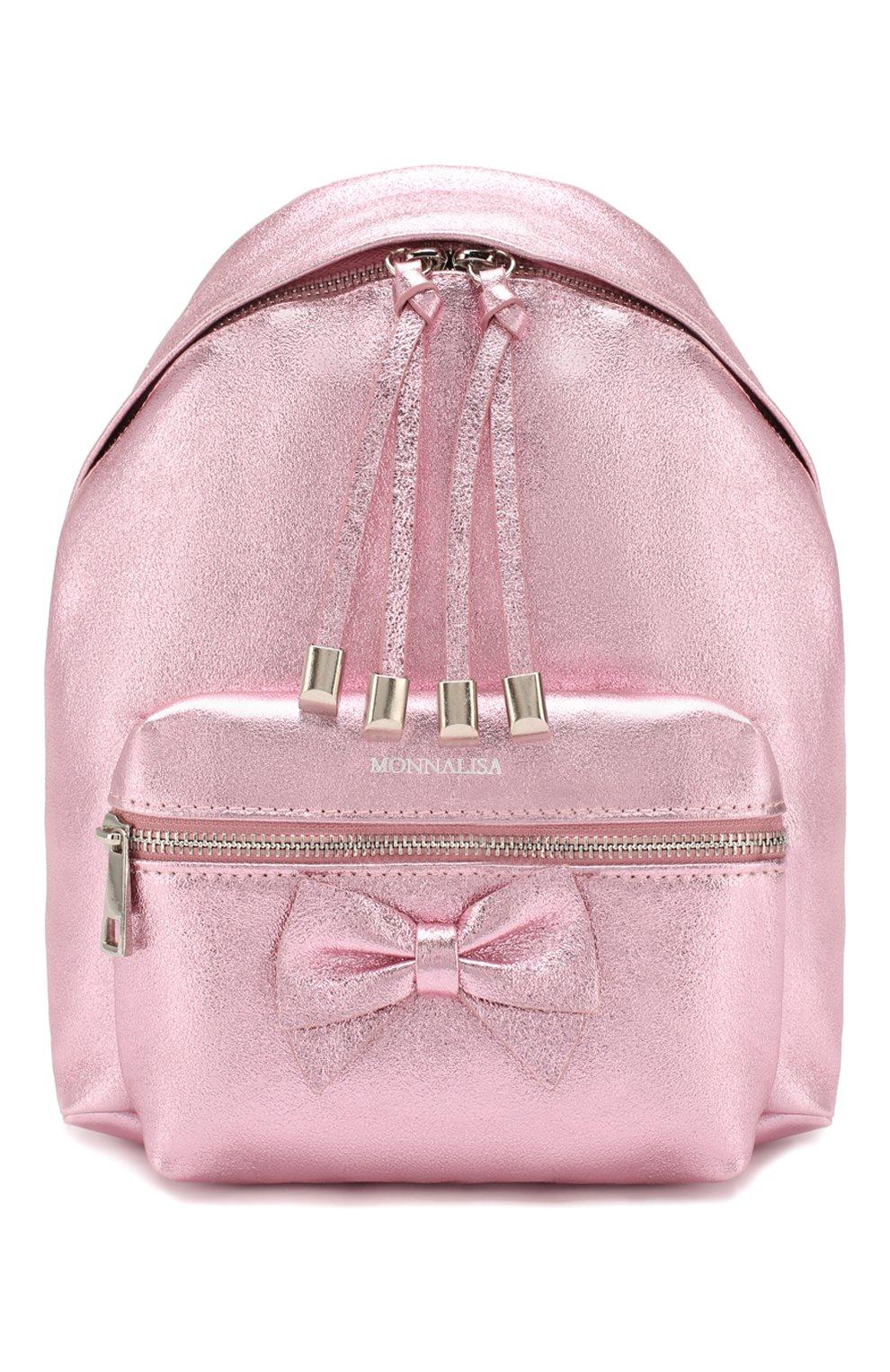 Детская рюкзак MONNALISA розового цвета, арт. 175004   Фото 1