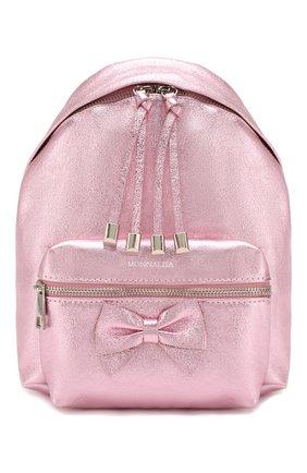 Детская рюкзак MONNALISA розового цвета, арт. 175004 | Фото 1