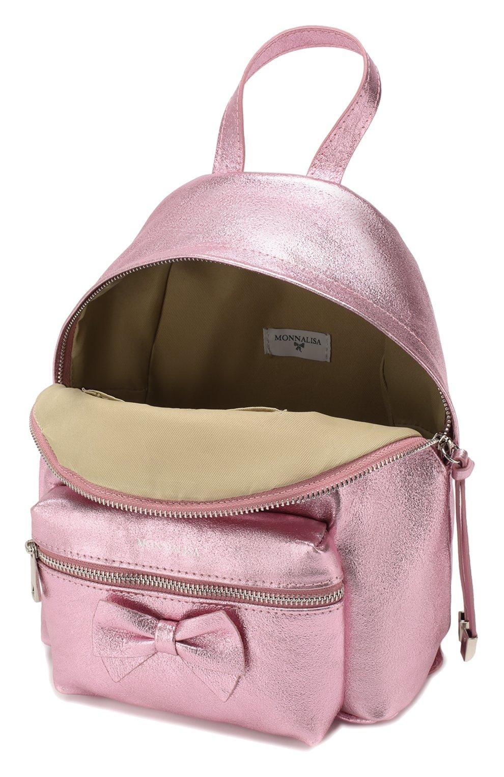 Детская рюкзак MONNALISA розового цвета, арт. 175004   Фото 3