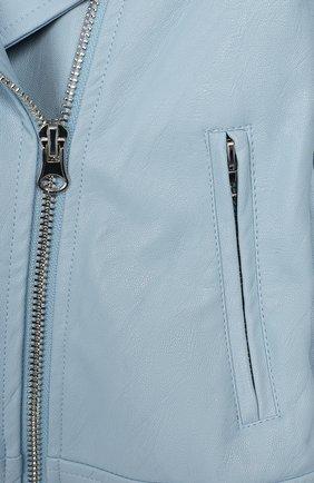 Детская куртка MONNALISA голубого цвета, арт. 175101   Фото 3