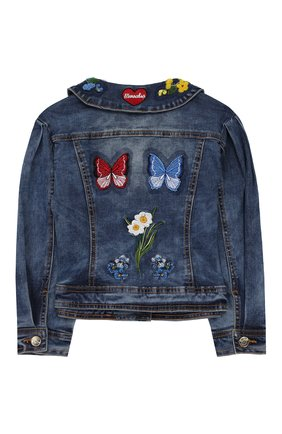 Детская джинсовая куртка MONNALISA синего цвета, арт. 195100R1 | Фото 2