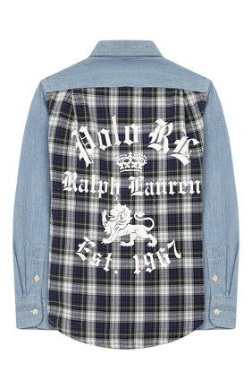 Детская джинсовая рубашка POLO RALPH LAUREN голубого цвета, арт. 323750020 | Фото 2