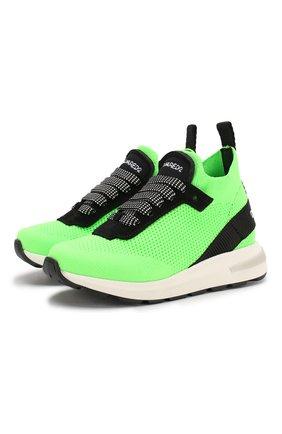 Детские кроссовки DSQUARED2 зеленого цвета, арт. 63518/18-27 | Фото 1