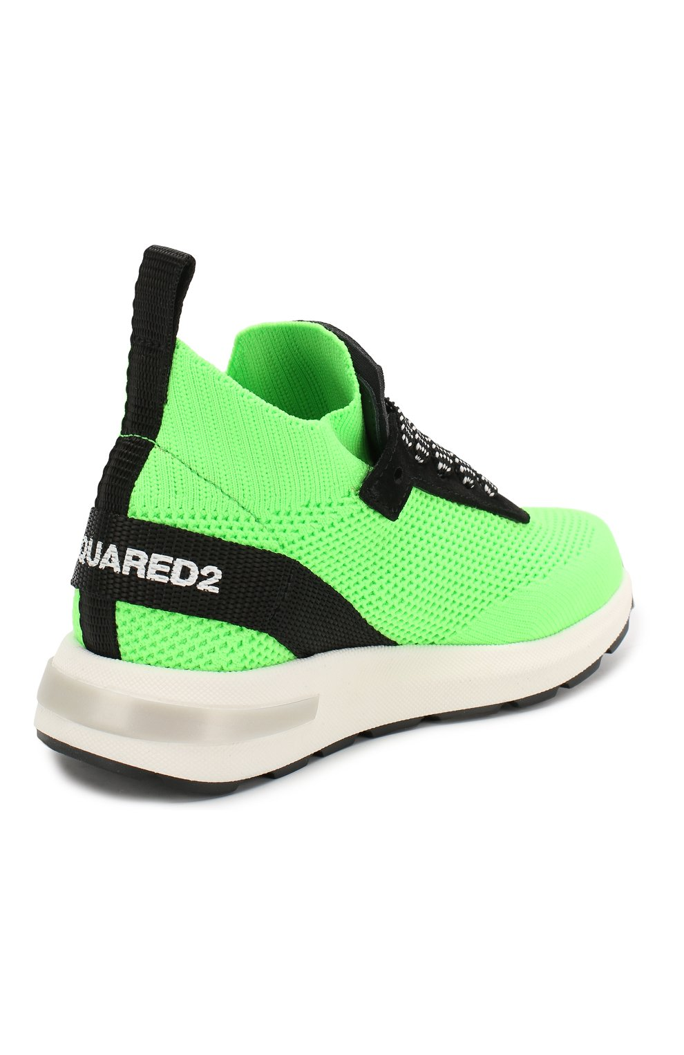 Детские кроссовки DSQUARED2 зеленого цвета, арт. 63518/18-27 | Фото 3