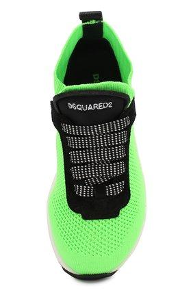 Детские кроссовки DSQUARED2 зеленого цвета, арт. 63518/18-27 | Фото 4