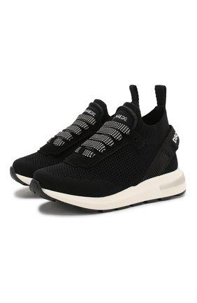 Детские кроссовки DSQUARED2 черного цвета, арт. 63518/18-27 | Фото 1