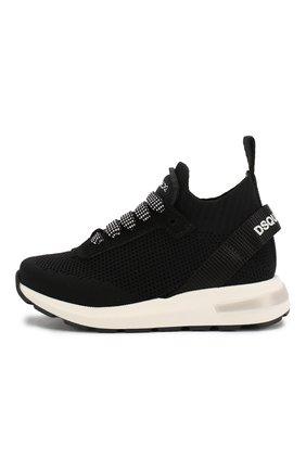 Детские кроссовки DSQUARED2 черного цвета, арт. 63518/18-27 | Фото 2