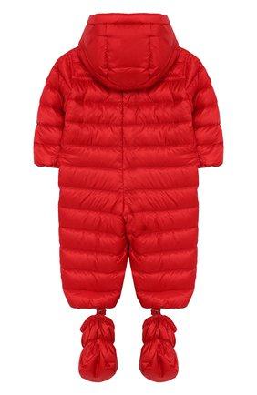 Детский комплект из комбинезона и пинеток MONCLER красного цвета, арт. F1-951-1G500-00-C0401/3M-12M | Фото 2