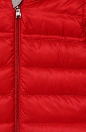 Детский комплект из комбинезона и пинеток MONCLER красного цвета, арт. F1-951-1G500-00-C0401/3M-12M | Фото 3