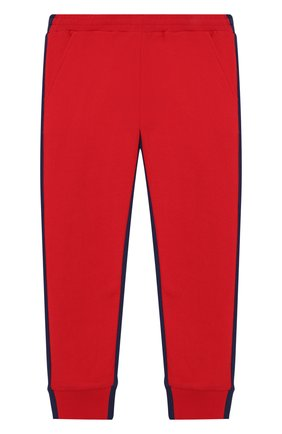 Детские хлопковые джоггеры MONCLER красного цвета, арт. F1-954-8H702-20-809AG/4-6A | Фото 1