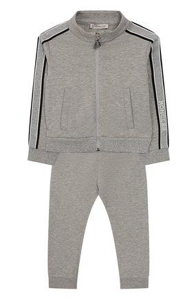 Детский комплект из толстовки и брюк MONCLER серого цвета, арт. F1-951-8M700-10-809DQ | Фото 1