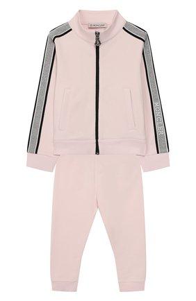 Детский комплект из толстовки и брюк MONCLER розового цвета, арт. F1-951-8M700-10-809DQ | Фото 1
