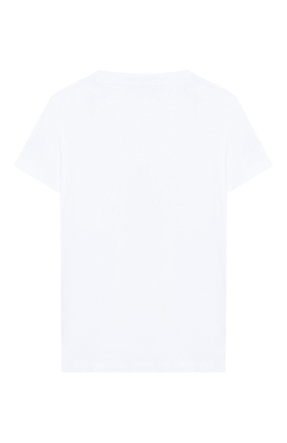 Детский хлопковая футболка MONCLER белого цвета, арт. F1-951-8C701-20-8790A | Фото 2