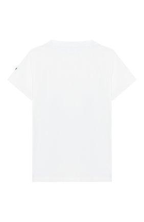 Детский хлопковая футболка MONCLER белого цвета, арт. F1-951-8C700-20-8790A | Фото 2