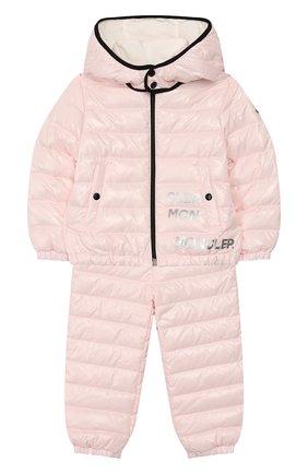 Детский комплект из куртки и комбинезона MONCLER розового цвета, арт. F1-951-1F500-00-68950/3M-18M | Фото 1