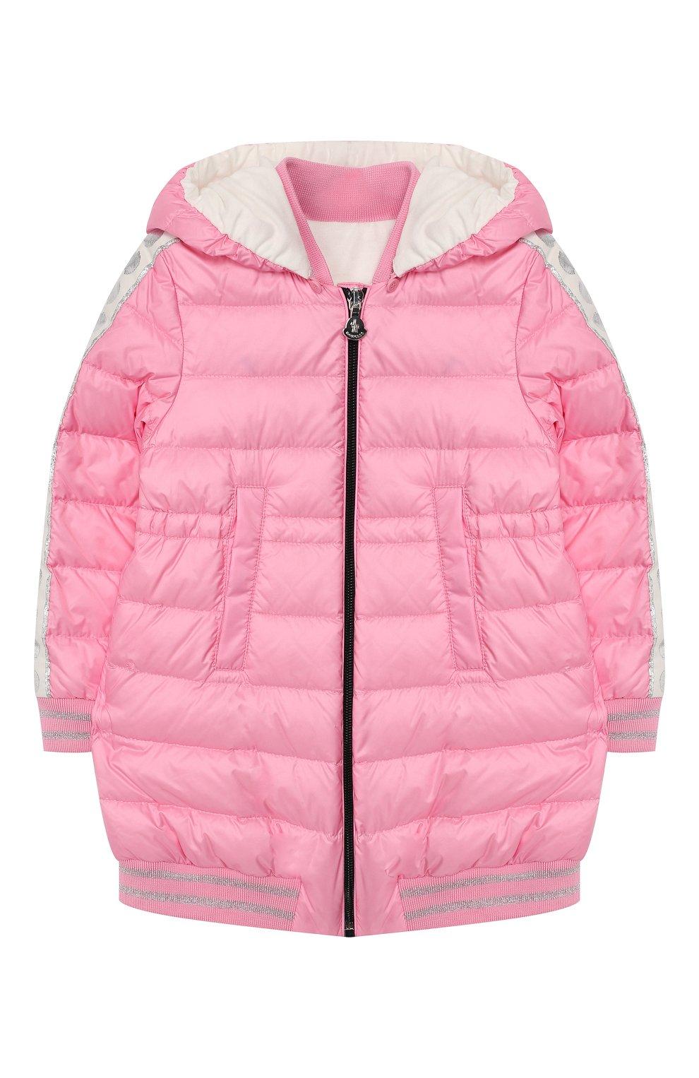 Детского пуховик MONCLER розового цвета, арт. F1-951-1C501-10-53048 | Фото 1