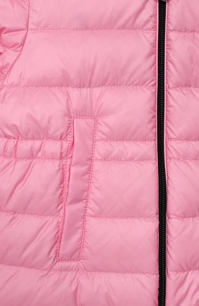 Детского пуховик MONCLER розового цвета, арт. F1-951-1C501-10-53048 | Фото 3
