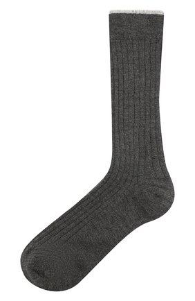 Детские кашемировые носки BRUNELLO CUCINELLI темно-серого цвета, арт. BCS42741C | Фото 1