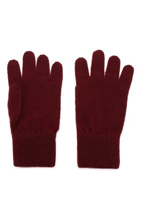 Детские кашемировые перчатки BRUNELLO CUCINELLI бордового цвета, арт. B2292208A | Фото 2