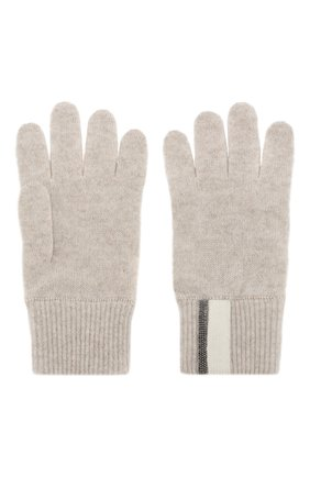Детские кашемировые перчатки BRUNELLO CUCINELLI бежевого цвета, арт. B12162889A | Фото 2