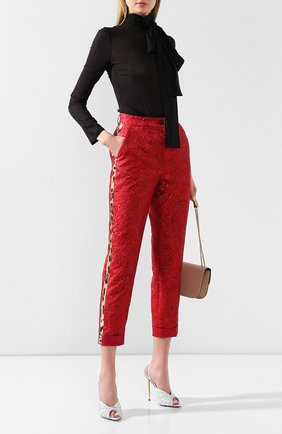 Женские брюки DOLCE & GABBANA красного цвета, арт. FTBLST/HJMB9 | Фото 2