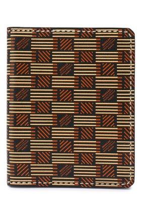 Мужская кожаная обложка для паспорта MOREAU коричневого цвета, арт. PW7C07I0V0STSTB | Фото 1