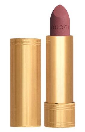 Женская матовая губная помада, оттенок 204 peggy taupe GUCCI бесцветного цвета, арт. 3614229374902 | Фото 1